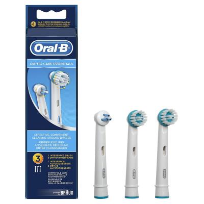 Oral B Testine di Ricambio Ortho Care Essential Kit 3 pezzi