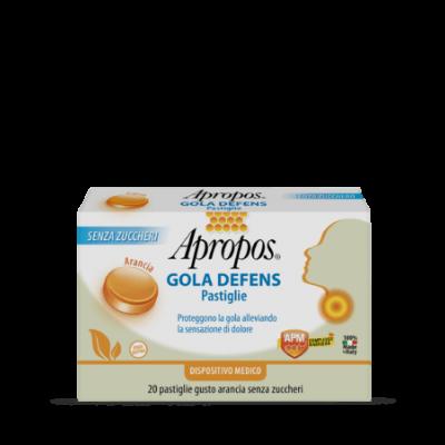 Apropos Gola Defens 20 pastiglie Gusto Arancia