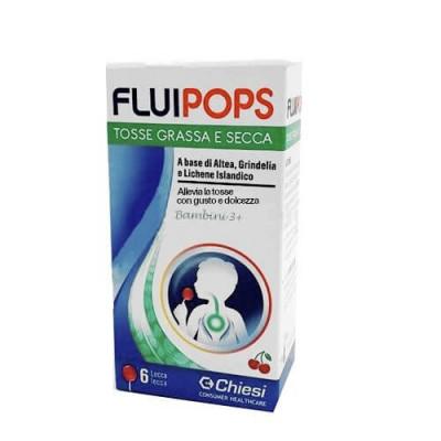 Fluipops 6 Lecca Lecca Tosse Gusto Ciliegia