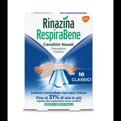 Rinazina Respirabene 10 cerottini nasali classici