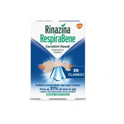 Rinazina Respirabene 30 cerottini nasali classici