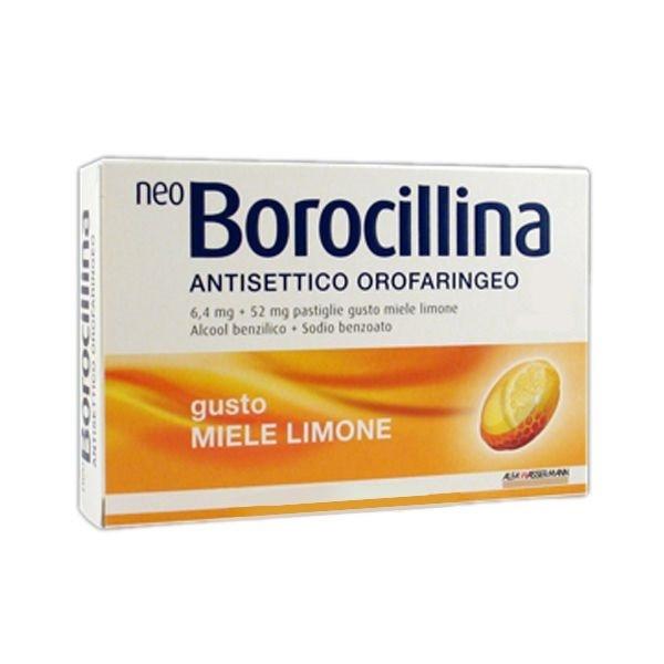 Neoborocillina Antisettico Orofaringeo Miele e Limone 16 pastiglie offerta