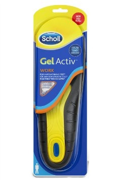 Scholl Gel Active Work Uomo Solette Per Scarpe