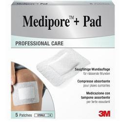 Medipore+Pad Medicazione 5x7,2 cm 5 Pezzi