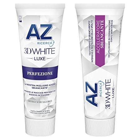 AZ Ricerca 3D White Luxe Perfezione + Acceleratore Sbiancante 75ml x 2 pezzi