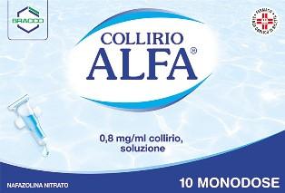 Collirio Alfa 10 contenitori monodose 0,8 Mg/Ml offerta
