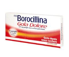 Neoborocillina Gola Dolore Menta Senza Zucchero 16 pastiglie offerta