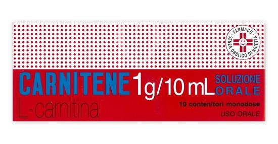 Carnitene Soluzione Orale 10 Flaconcini Monodose offerta