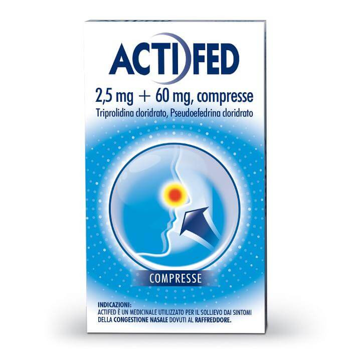 Actifed 12 compresse offerta