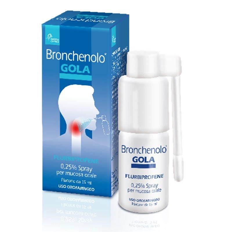 Bronchenolo Gola Spray Mucosa Orale 15 ml 0,25%