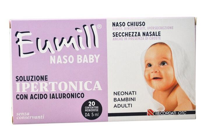 Eumill Naso Baby Soluzione Ipertonica 20 flaconcini da 5ml