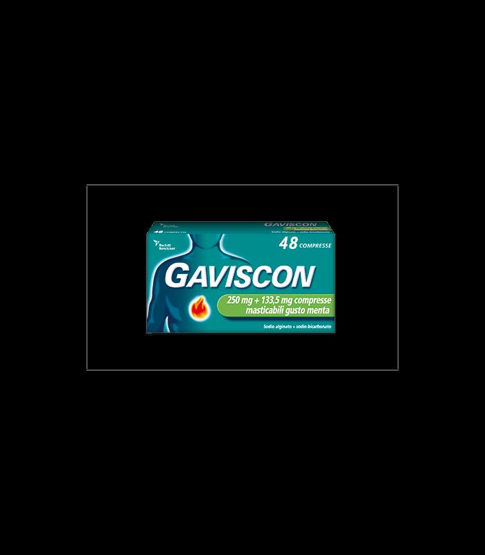 Gaviscon 48 Compresse Masticabili Menta 250 Mg + 133,5 Mg offerta