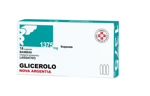 Nova Argentia Glicerolo 18 Supposte Bambini 1375mg offerta