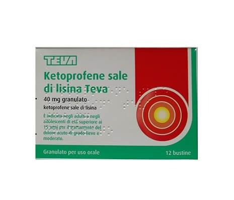 Ketoprofene Sale Di Lisina Teva 12 bustine