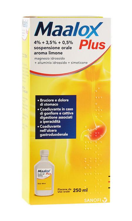 Maalox Plus Sospensione Orale Limone 250ml offerta