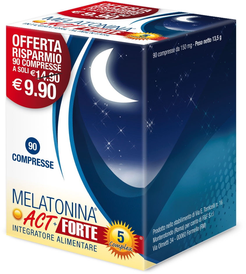 Melatonina Act 1mg+5 Complex Forte 90 compresse offerta