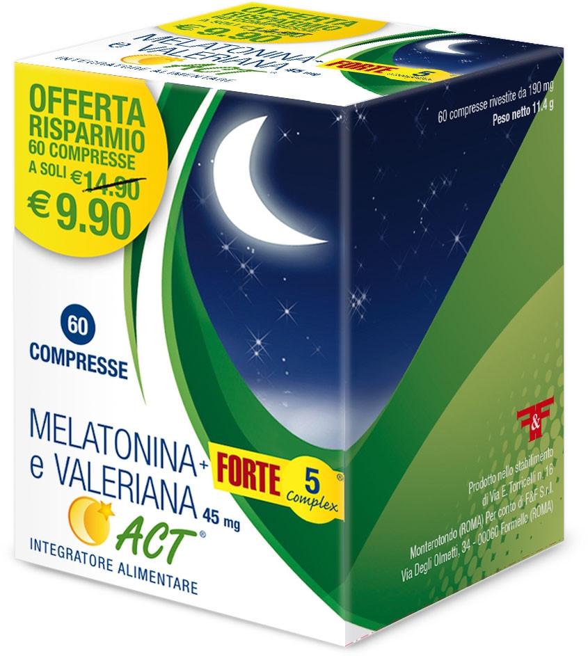 MELATONINA ACT1MG+VALER 5FT 60-924451913