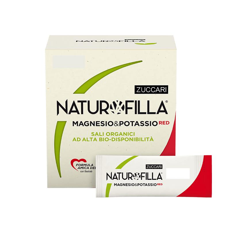 Naturofilla Magnesio e Potassio RED Sambuco e Karkadè 14 Stick Pack
