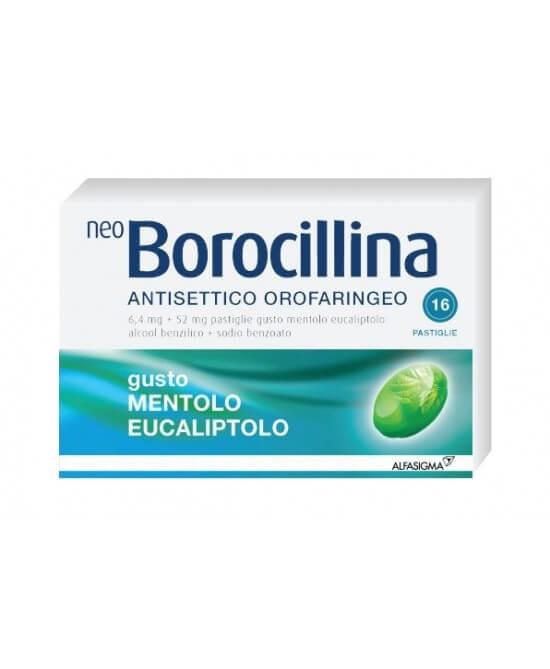 NeoBorocillina Antisettico Orofaringeo Mentolo Eucalipto 16 pastiglie offerta