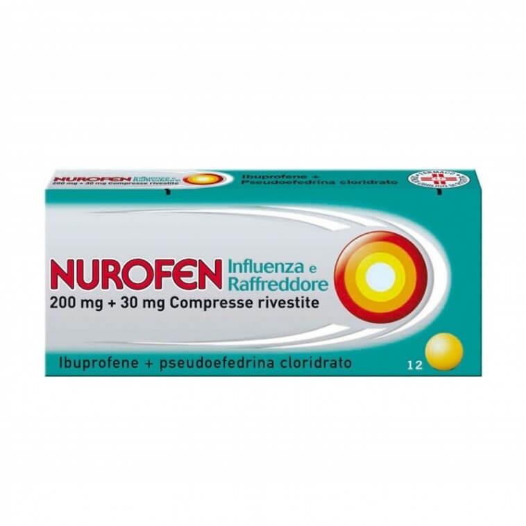 Nurofen Influenza e Raffreddore 12 compresse rivestite offerta