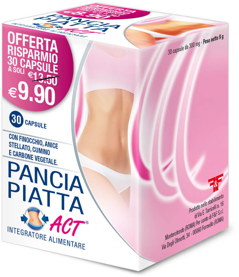 PANCIA PIATTA ACT 30CPS 300MG prezzi bassi