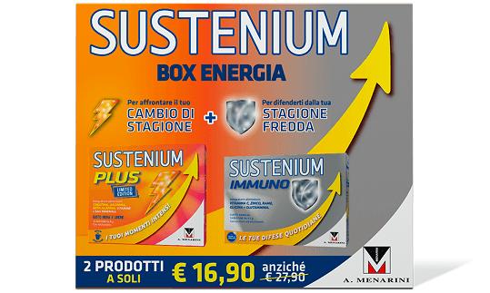Sustenium Box Energia Sustenium Plus + Sustenium Immuno