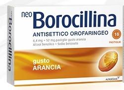 Neoborocillina Antisettico Orofaringeo Arancia 16 pastiglie offerta