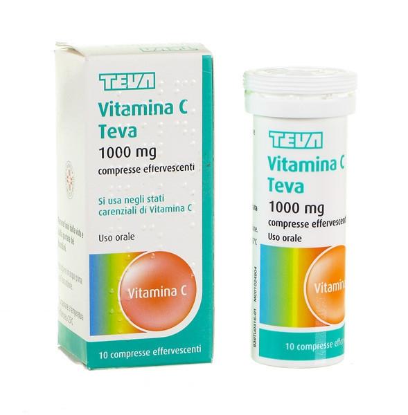 Teva Vitamina C 10 Compresse Effervescenti 1g