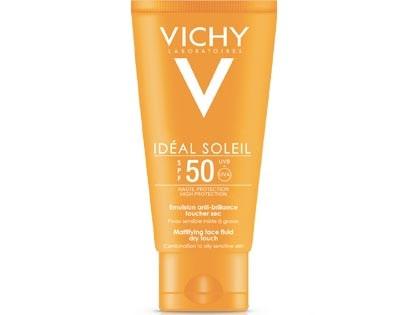 Vichy Ideal Soleil Dry Touch Emulsione Antilucidità Protezione Solare SPF50+ 50ml