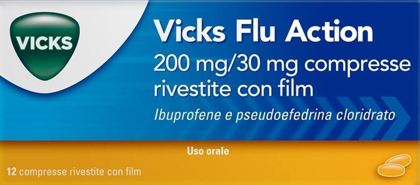 Vicks Flu Action 12 Compresse Rivestite 200 Mg + 30 Mg offerta
