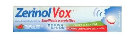 ZerinolVox Emolliente Protettivo per Raucedine Aroma Fragola Menta 18 Pastiglie prezzi bassi