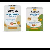 Apropos Gola Defens Spray No Alcol 20ml + Vox Defence 5 pastiglie Miele Limone
