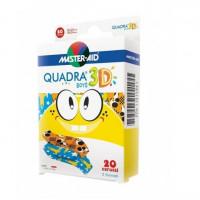 Cerotto Master-Aid Quadra 3D Boys 20 Pezzi Assortiti