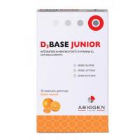D3Base Junior Gusto Arancia 30 caramelle gommose
