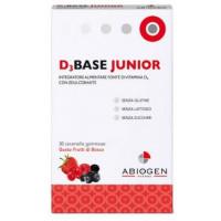 D3Base Junior Gusto Frutti di Bosco 30 caramelle gommose