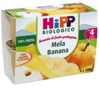 Hipp Biologico Frutta Grattugiata Mela e Banana 4x100gr.