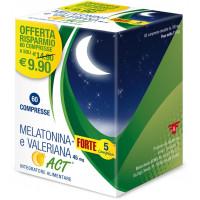 Melatonina + Forte 5 Complex e Valeriana Act 60 compresse