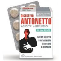 Digestivo Antonetto Acidita' e Reflusso Crema Menta 40 Compresse Masticabili