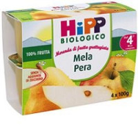 Hipp Biologico Frutta Grattugiata Mela e Pera 4x100gr.