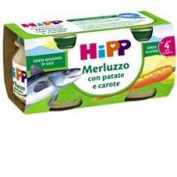 Hipp Biologico Omogeneizzato Merluzzo con Carote e Patate 2x80gr.