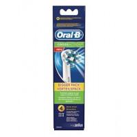 Oral B Refill CrossAct 4 Testine Spazzolino Elettrico