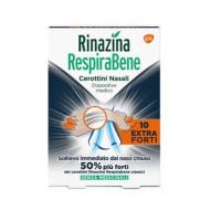 Rinazina Respirabene 10 cerottini nasali Extra Forti