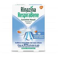 Rinazina Respirabene 10 cerottini nasali trasparenti