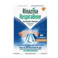 Rinazina Respirabene 30 cerottini nasali grandi