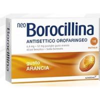 Neoborocillina Antisettico Orofaringeo Arancia 16 pastiglie