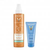 Vichy Capital Soleil Spray Leggero Reidratante SPF30 200ml + Doposole 100ml