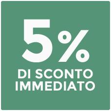 5% di sconto per te